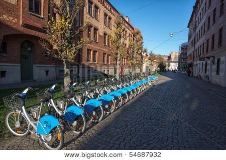 Bicycle sharing system in Gothenburg, Sweden