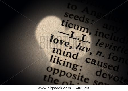 Closeup Of The Word Love