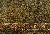 foto of leather-bound  - closeup of the vintage style leather texture background - JPG