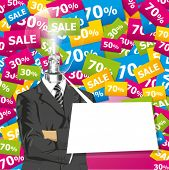stock photo of chatterbox  - Sale concept - JPG