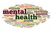 image of antidepressant  - Mental health concept in word tag cloud on white - JPG