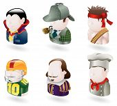 stock photo of william shakespeare  - An avatar people web or internet icon set series - JPG