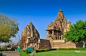 Matangeshvara (left) And Lakshmana Temple -khajuraho