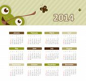 stock photo of august calendar  - Vector calendar for 2014 eps without transparency - JPG