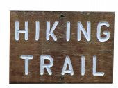 Wooden Hiking Trail Sign poster