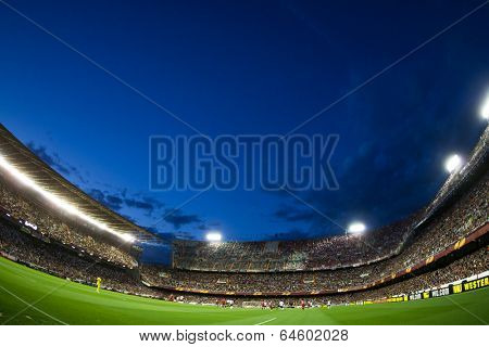 VALENCIA - MAY, 1: View of Mestalla Stadium during UEFA Europe League semifinals match between Valencia CF and Sevilla FC on May 1, 2014 in Valencia, Spain