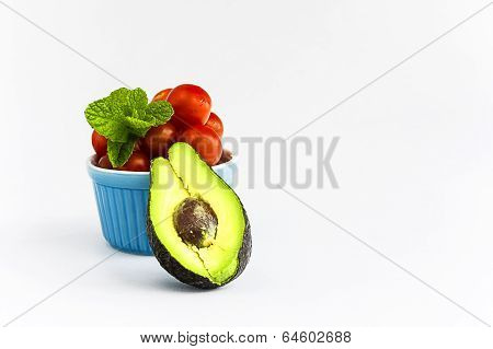 Avocado,tomatoes And Mint