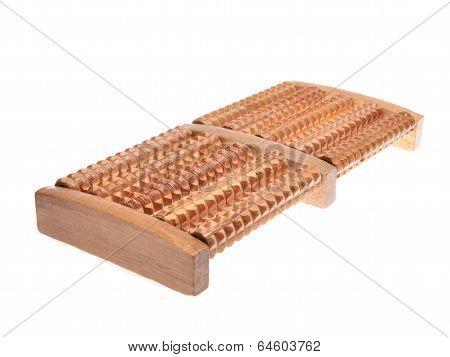 Wooden massager for feet