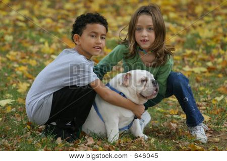 Kids And Dog