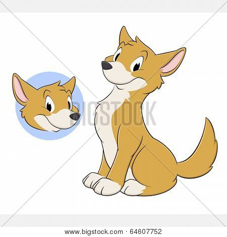 Cartoon Dog Dingo