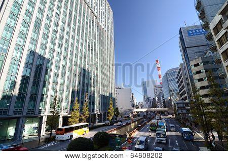 Shimbashi, Tokyo - November 26: Shimbashi Commercial And Night Life District, Tokyo, Japan
