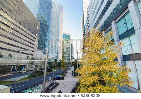 Shimbashi, Tokyo - November 26: Shimbashi Commercial And Night Life District