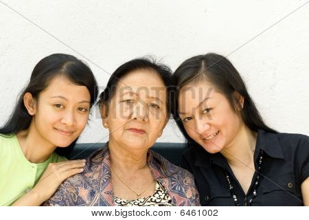 Asian Family Women Generation