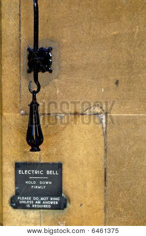 Smith forged handle of electric bell