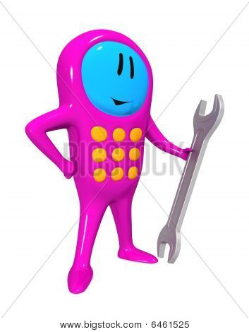 Mobile Phone And Spanner