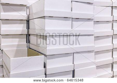 White Box At Warehouse