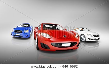 Variety of Luxury 3D Vehicles