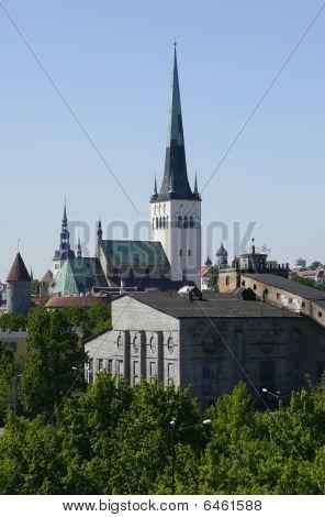 St. Olaf's Church (oleviste Kirik) In Tallinn, Estonia