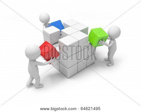 Men with blocks