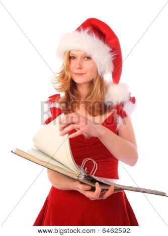 Miss Santa Is Doing Paper Work