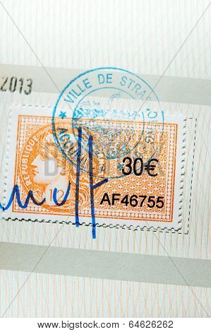 Revenue Stamp Or Tax Stamp Or Fiscal Stamp