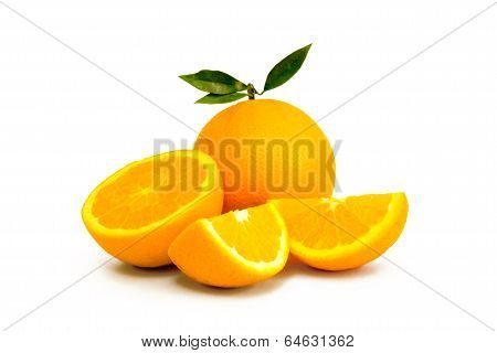 Oranges Isoated On White Background