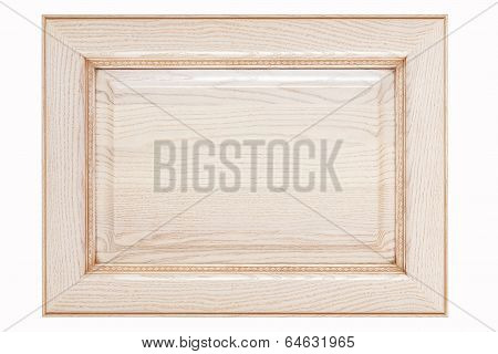 Wooden Plate Or Nameboard In Wooden Frame