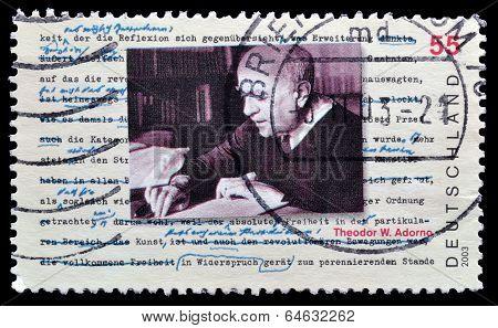 Theodor Adorno stamp 2003