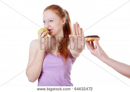 Girl Refusing Cookie