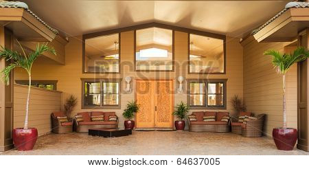 Front Door Entrance to Luxury Home