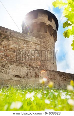 Mace Tower in Buda castle  Budapest, Hungary