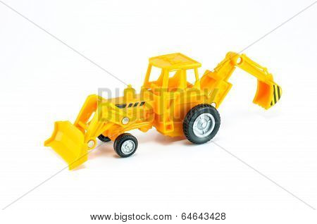 Tractor With Front Loader & Backhoe Diger Toy