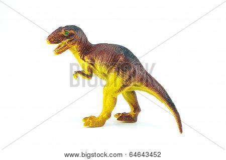 Dinosaur Toy Stand On Isolated On White