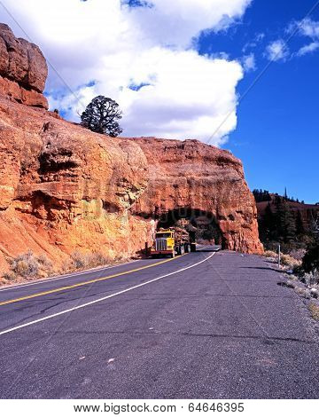 American truck in Red Canyon.