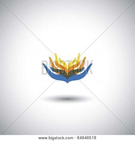 Family People Together Or Unity, Friendship, Trust - Concept Vector Graphic