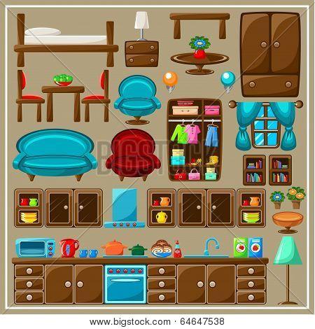 Set Of Furniture.