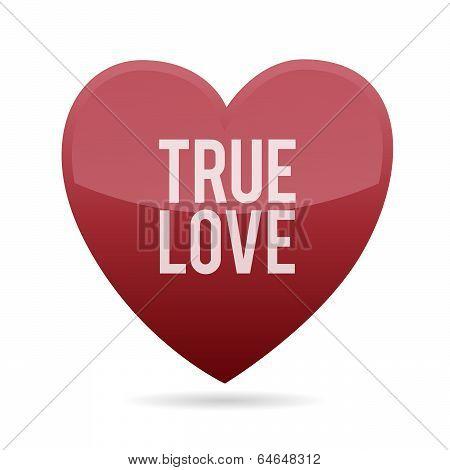 Red True Love Heart Shape
