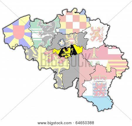 Walloon Brabant On Map Of Belgium
