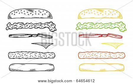 Sketch Of The Hamburger