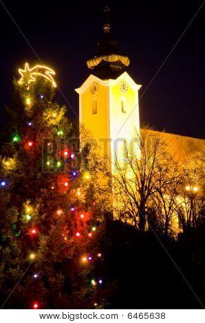 Church and Chrstmas Tree