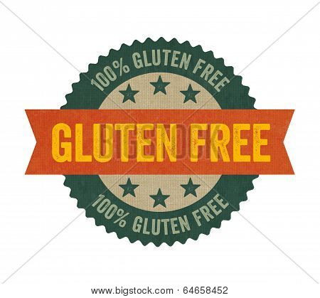A Label with the text Gluten free