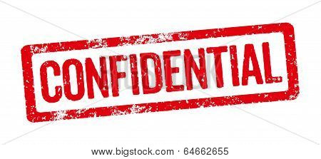Red Stamp on a white background - Confidential
