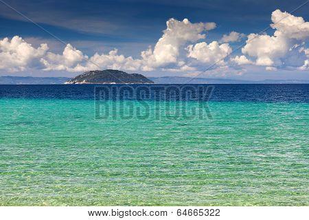 Beautiful Beach Of Porto Elena At Halkidiki In Greece