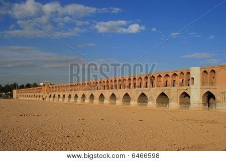 33 Pol Allah Verdi Khan Bridge In Isfahan, Iran