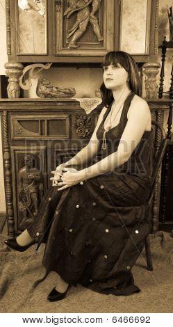Vogue Style Vintage Portrait