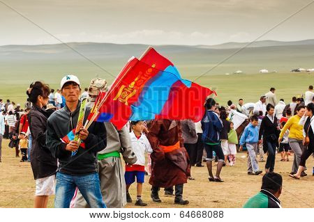 Flag Vendor, Nadaam Horse Race