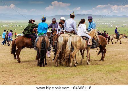Horseback Spectators, Nadaam Horse Race