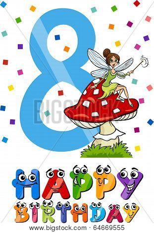 Eighth Birthday Cartoon Design
