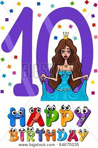 Tenth Birthday Cartoon Design