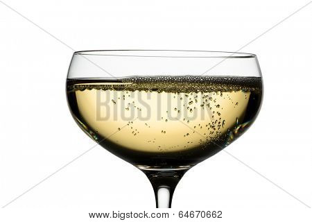 champagne with champagne glass. symbolic photo for celebrations and new year.